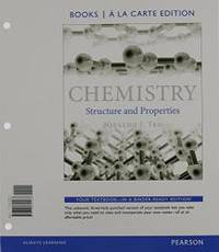 image of Chemistry: Structure and Properties, Books a la Carte Edition &  Modified MasteringChemistry with Pearson eText -- ValuePack Access Card -- for Chemistry: Structure and Properties Package