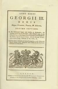 ANNO DECIMO SEPTIMO Georgii III. Regis. CAP. XXXI. by ANONYMOUS - 1777 - from Attic Books and Biblio.co.uk