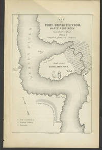 Map of Fort Constitution, Martelaers Rock [and]  engraving of Boom and Chain at West Point