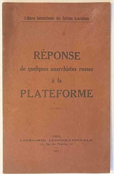 Paris: Libraire Internationale, 1927. 39p., staplebound pamphlet, some toning, otherwise very good. ...