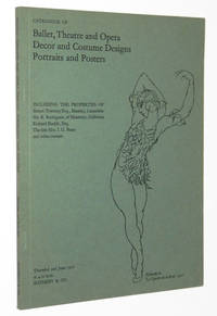 Catalogue of Ballet, Theatre and Opera Decor and Costume Designs, Portraits, and Posters, Thursday, 3rd June 1971