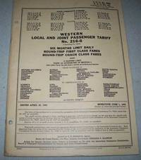 Western Local and Joint Passenger Tariff No. 216-6