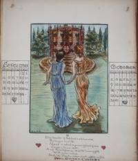 Album of Original Watercolor and Ink Designs for Calendars from 1903 to 1907 Satan's Calendar.  Life's Journey Calendar.  Expectation's Calendar.  Young Herchard Calendar.