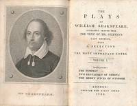 The Plays of William Shakspeare [Shakespeare], Accurately Printed from the Text of Mr. Steeven's Last Edition, with a Selection of the Most Important Notes. 19 volumes (of 20). Billy Jones edition
