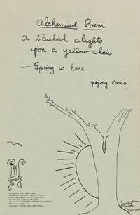 Alchemical Spring by  Gregory Corso - Limited Edition - 1979 - from Third Mind Books (SKU: 1685)