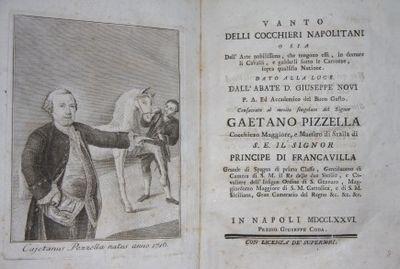 Napoli: Giuseppe Coda, 1776. First Edition. Paper on card (semi-hardcover). Very Good. Scarce Neapol...