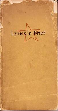 Lyrics in Brief 1300-1938   SIGNED - ASSOCIATION COPY