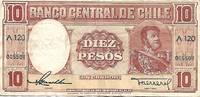 image of Chile 10 Pesos de Un Condor - Gold Certificate Banknote