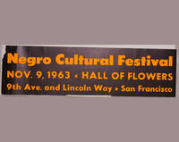 Negro cultural festival; Nov. 9, 1963, Hall of Flowers, 9th Ave. and Lincoln Way