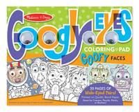 Wacky Faces - Googly Eyes Coloring Pad Wacky Faces - Googly Eyes Color