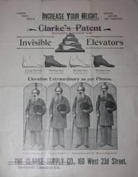 New York: The Clarke Supply Co.. NA. Very Good. N.d., circa 1880. Single fold circular. 31 by 24 cm....