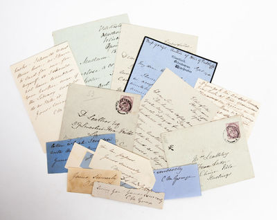 Otterbourne, Winchester UK, 1900. Collection of manuscript material from the female British novelist...