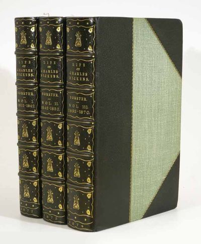 London: Chapman & Hall, 1874. 1st edition. Early 20th C. 3/4 green morocco bindings, by Root & Sons,...