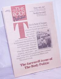 image of The Body Politic: a magazine for lesbian/gay liberation; #135, February, 1987; The Farewell issue of the Body Politic