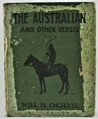 The Australian and other Verses 1st Edition Signed by Will H. Ogilvie and with postcard hand-written by Ogilvie\'s wife concerning the sending of the book to Selkirk, Scotland, for the poet to autograph