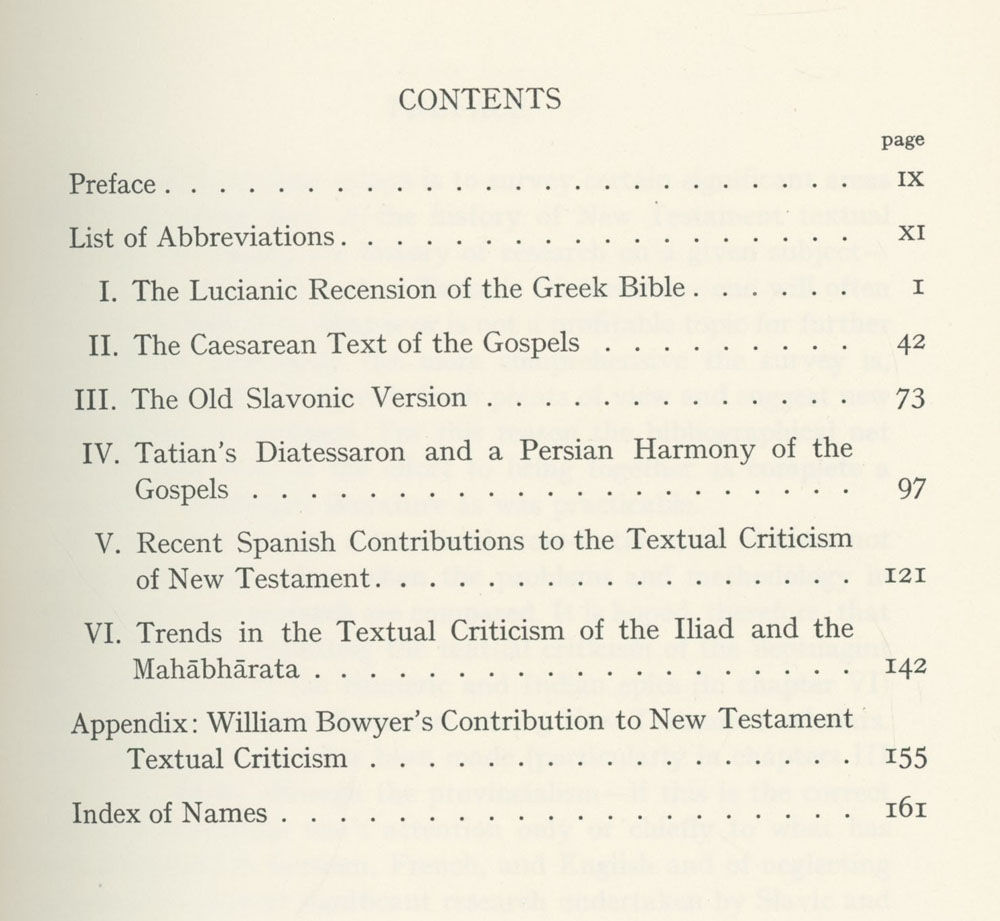 History Criticism: Chapters In The History Of New Testament Textual Criticism