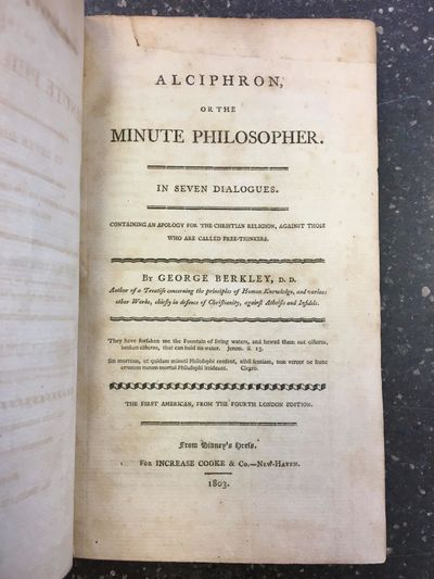 New Haven: Increase Cooke & Co, 1803. First American Edition. Hardcover. Octavo, 388 pages, ads; VG;...