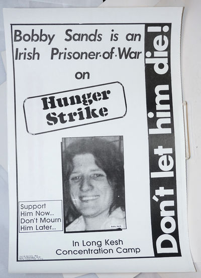 New York: Irish Northern Aid, 1981. Poster, slightly over 11x17 inches, very good; black and white p...