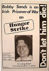 View Image 2 of 2 for Don't let him die! Bobby Sands is an Irish prisoner of war on hunger strike in Long Kesh concentrati... Inventory #179190