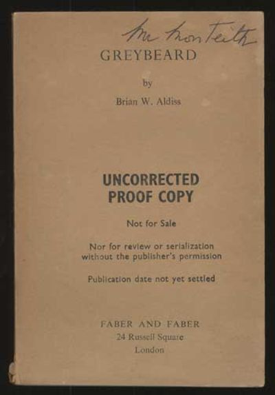 London: Faber and Faber, 1964. Octavo, printed tan wrappers. Advance copy (uncorrected proof) of the...