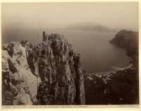 Capri. Panorama con Castello di Barbarossa e vista del continente.