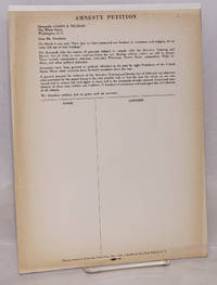 Amnesty Petition by [Committee for Amnesty for All Objectors to War and Conscription] - 1946 - from Bolerium Books Inc., ABAA/ILAB (SKU: 209546)