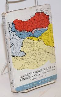 image of Geografía histórica de la lengua vasca. (Siglos XVI al XIX). Varios Autores.  Segunda edicion