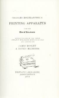 Printing Apparatus for the Use of Amateurs