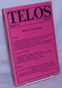 image of Telos No. 21, Fall, 1974