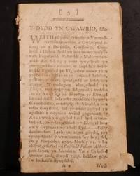 Y Dydd yn Gwawrio: Neu, Hanes Dechreuad, cynnydd a Llwyddiant y Gyfeillach Fawr, yn Llundain...