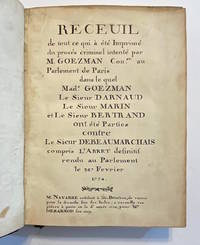 [SAMMELBAND]. [Beaumarchais-Goezman Scandal: 18 works in one volume]. Manuscript title-page:...