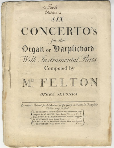 London: J. Johnson, 1747. Folio. Sewn. 1f. (title), 13; (title), 2-11; 1f. (title), 13; 1f. (title),...