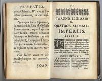 Joan. Sleidani De Quatuor Monarchiis Libri Tres. Cum Notis H. Meibomi & G. Horni. Editio...
