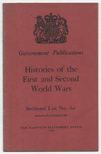 Government Publications, Sectional List No. 60: First World War, 1914-1918