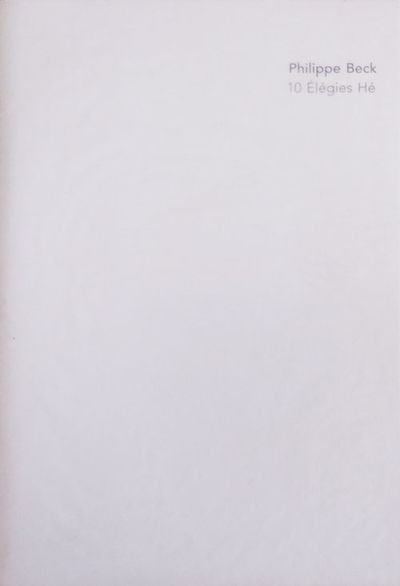 Gent: Druksel, 2005. First edition. Paperback. Fine/fine. Slender volume in sewn wrappers in delicat...