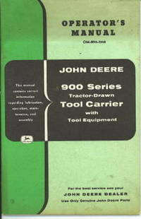 John Deere 900 Series Tractor-drawn Tool Carrier With Tool Equipment