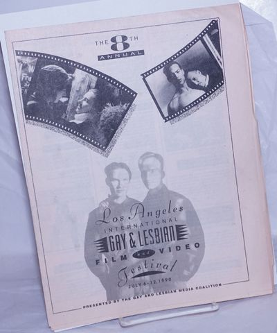 Los Angeles: The Gay and Lesbian Media Coalition, 1990. Event calendar folded to 8.5x11 inches, film...