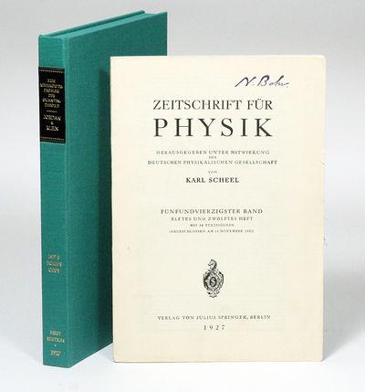 Berlin: Julius Springer, 1927. First edition. Original wrappers. Fine. FIRST EDITION IN ORIGINAL WRA...