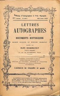 Bulletin 641/1932: Lettres Autographes et Documents Historiques.