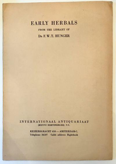 Amsterdam: International Antiquariaat, 1951. Wraps. Cream wraps. Very good. 24.5 x 17 cm. 52 pages. ...