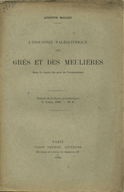 Paris: Vigot Frères, editeurs, 1908. Offprint. Paper wrappers. A very good unopened (uncut) copy, s...