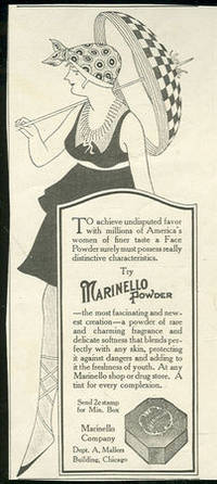 1916 LADIES HOME JOURNAL ADVERTISEMENT FOR MARINELLO FACE POWDER