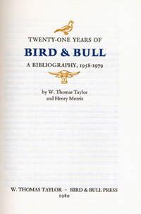 : W. Thomas Taylor & Bird & Bull Press, 1980. Large octavo. Half morocco and decorated boards. Fine ...
