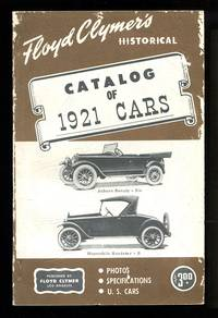 image of Floyd Clymer's Historical Catalog of 1921 Cars