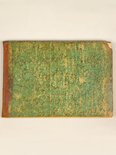 , 1843. Oblong folio. Mid-tan leather-backed green marbled boards, titling and decorative devices gi...