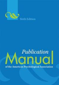 image of Publication Manual of the American Psychological Association
