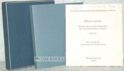 Meißen, 1824. stiff paper wrappers, slip case. Children's Books. square 24mo. stiff paper wrappers,...