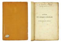 Lettre d'un Relieur Francais a un Bibliographe Anglais.