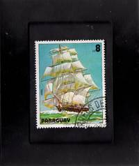 Tchotchke Stamp Art - Collectible Postage Stamp - Clipper Ship Ariel