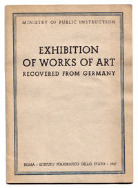 Exhibition of works of art recovered from Germany